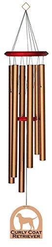 chimesofyourlife E4441Windspiel 35-Inch Curly Coat Retriever/Bronze (Retriever Curly Coat)