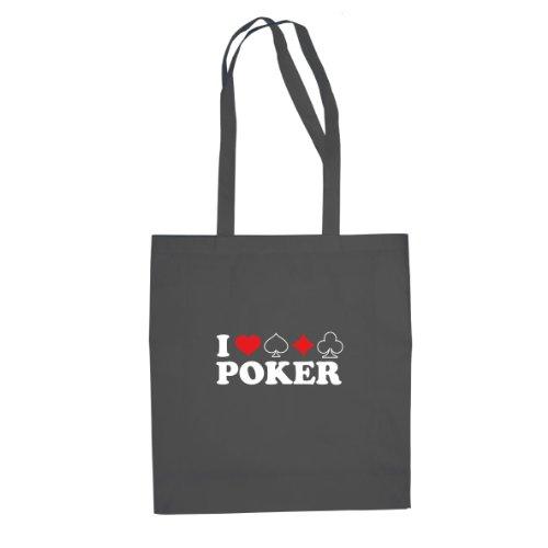 Planet Nerd I love Poker - Stofftasche/Beutel, Farbe: ()