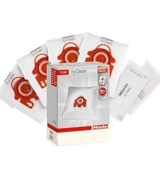 Miele FJM - Set HyClean con sacchetti per aspirapolvere (4 pz) e filtri (2 pz), originali