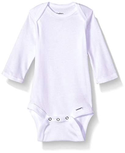 Gerber Baby Girls' 5-Pack Organic Long-Sleeve Onesies Bodysuit -