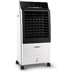 OneConcept CTR-1 Heat Plus Line - Radiateur soufflant, Rafraîchisseur d'air, Ventilateur 4en1, 400 m³/h, Fonction Purification de l'air, 2 Niveaux de Chauffe, Blanc