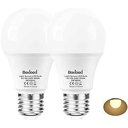 E27 Lichtsensor Lampe, 9-Watt, 600-Lumen (ersetzt 60W), Innen- / Außen-Auto Ein / Aus Sicherheitsbeleuchtung, 3000 Kelvin Warmweiß(2 Stück) von Boxlood