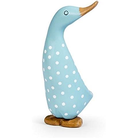 Lunares. Spotty de tamaño mediano de pato cuerpo diseñado decoración ornamento adorno azul–Figura de pato