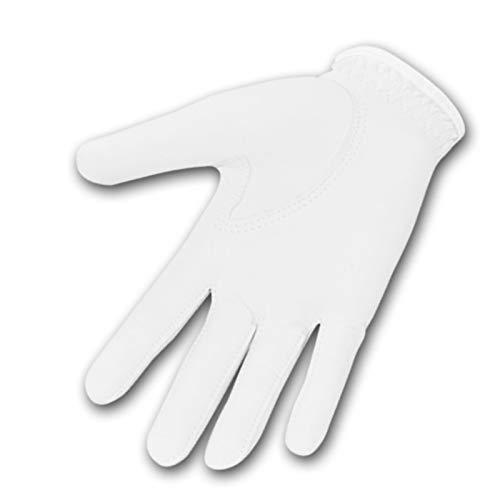 AmDxD Herren Golfhandschuhe Schaffell mit Touchscreen Funktion Weiß Handschuhe Größe M A295