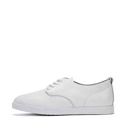 Scarpe Da Donna Bianche,Low-cut Scarpe,Testa Rotonda Profonda Bocca Piatta Slip Casual Shoes B