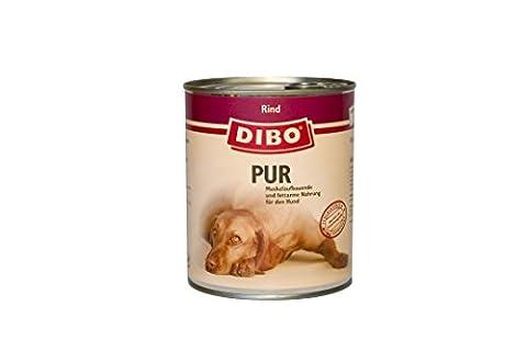 DIBO Pur Rindfleisch, 6 x 800g-Dose, Hundefutter, Nassfutterohne Konservierungsstoffe, reine Fleischdosen aus frischem und natürlichem Fleisch! DIBO-Qualität