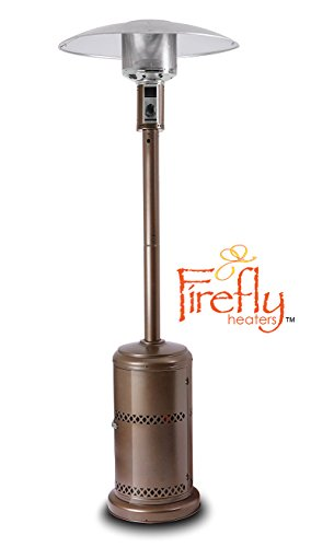 Firefly 12kW Premium Outdoor Gas Patio Heater Powder Coated Steel with Canister Door and Wheels