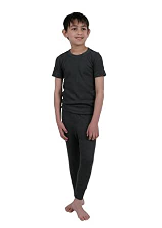 Boys Thermal Underwear Short Sleeve Vest And Long Pants