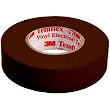 3M tbra1510TEMFLEX 1500vinilo eléctrico de cinta aislante, 15mm x 10m, 0,15mm), color marrón