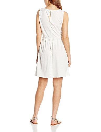 edc by Esprit 046cc1e031-Back Details, Robe Femme Blanc - Weiß (OFF WHITE 110)