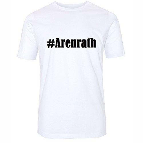 T-Shirt #Arenrath Hashtag Raute für Damen Herren und Kinder ... in den Farben Schwarz und Weiss Weiß