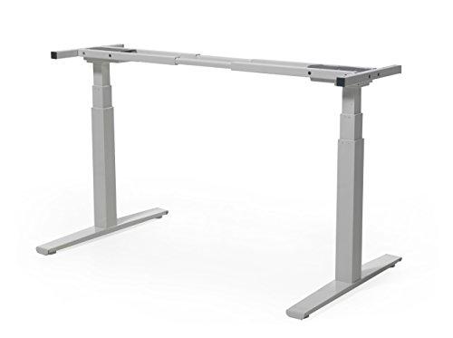 boHo möbelwerkstatt, DO IT YOURSELF - elektrisch stufenlos höhenverstellbares Tischgestell, höhenverstellbarer Schreibtisch für Tischplatten von 120 - 200 cm, minimale Plattentiefe 60 cm.