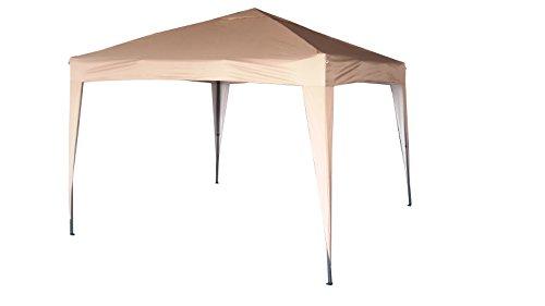 3x3m Pop-up Gazebo Waterproof Outdoor Garden Marquee Canopy NS (Beige)