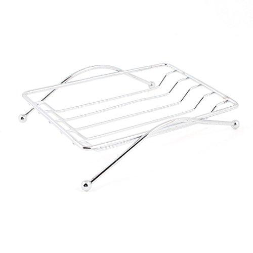 """SODIAL(R) Bathroom Shower Soap Holder Stainless Steel Rack Tray Strainer 4.3"""""""