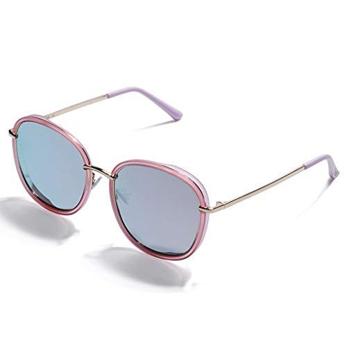 SUNGLASSES Trendy Sonnenbrillen, Für Frauen Zubehör Fall UV400 Schutz Metallrahmen Große Rahmen Ideal Für Fahren Oder Stadt Gehen (Farbe : C)