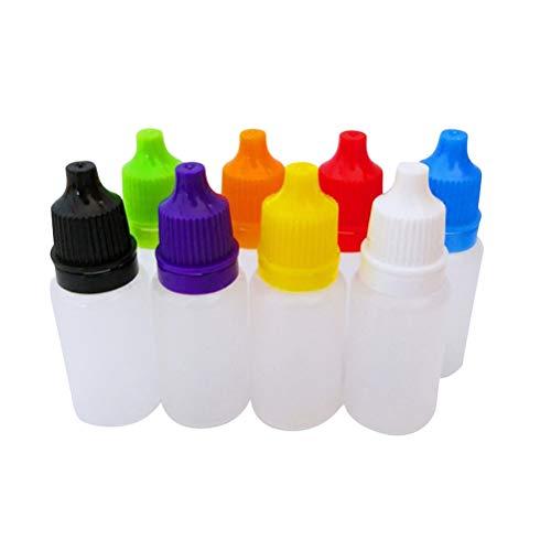 KAIMENG 8 Stücke 20 ml Leere Kunststoff Squeezable Tropfflaschen Auge Flüssigkeit Tropfflaschen (Zufällige Farbe) - Augen Flüssigkeit
