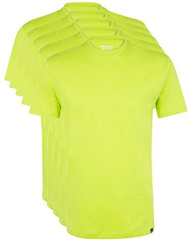 Ultrasport Herren Sport Freizeit T-Shirt mit Rundhalsausschnitt 5er Set Grün, L -