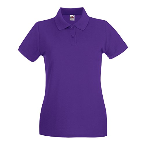 Fruit Of The Loom - Polo Manica Corta - Donna Viola