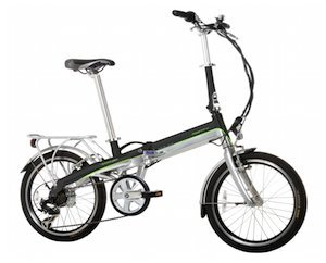 Monty EF39 - Bicicleta eléctrica, color negro/verde/plateado, 12