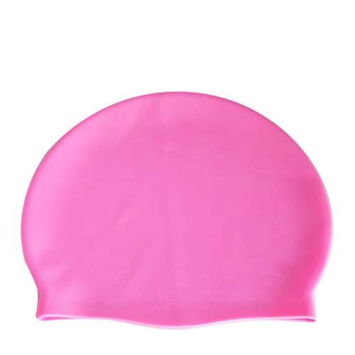Floridivy BOIHON Unisex Erwachsene Flexibilität Pool Caps Frauen-Mann-Silikon-Schwimmen-Hut Ohren schützen Haar Mütze