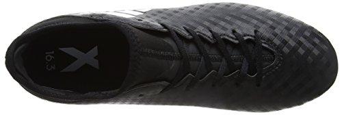 adidas X 16.3 Fg J, Chaussures de Football Entrainement garçon Noir (Core Black/Ftwr White/Core Black)