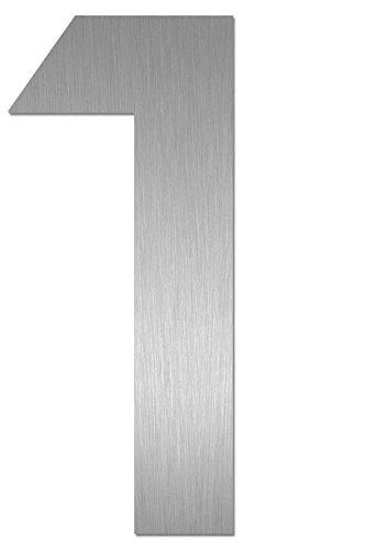 Heibi Hausnummer MIDI 1 Edelstahl zum Kleben 64581-072 (Eingangsbereich Akzent)