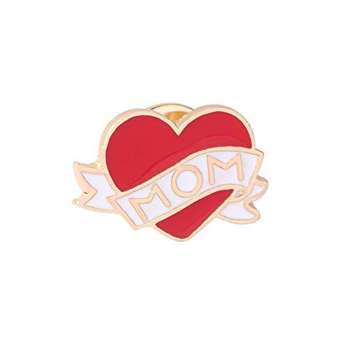 HYLIWI Brosche 15 Style Heart Brooch Badges Tableware Pizza Finger Sword Heart-Shaped Cigarette Doctor Heart Pin Lip Gold Lapel Pin Women