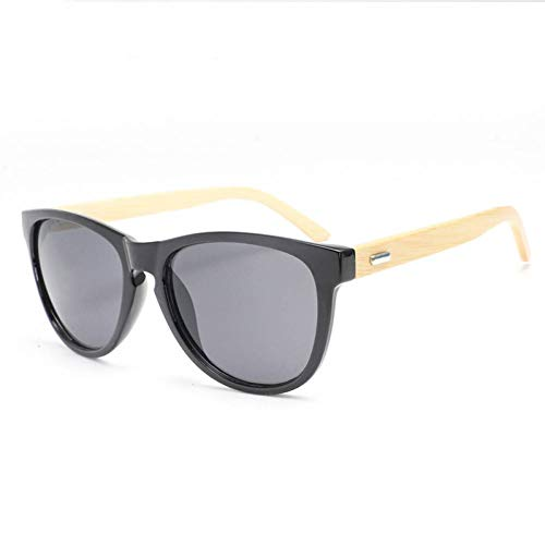 GAOHAITAO Wooden Bamboo Butterfly Sunglasses for Men/Women Shades,Come with A Handmade Leather Case,Grey