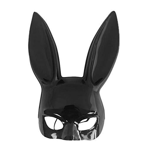 Wovemster Maske for Nachtclub Bar Prom Dance Performing,Halbe Gesichtsmaske Kaninchenform Mask - Halloween Ostern Dekoration(Schwarzlicht)