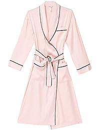 Bata De Raso Bata De Baño De Manga Larga Vestido De Novia Camisón De Mujer Camisón