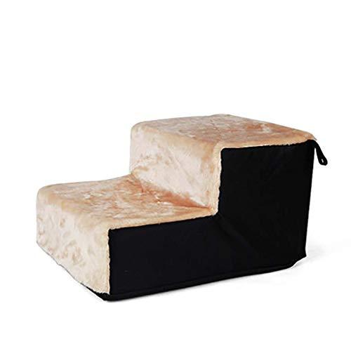 Plüsch,portable Pet-treppen Anti-rutsch Pet Treppen Leichtes Aufsteigen Weich Schlafsofa Lightweight Schwamm Pet Bett-leiter-schwarz 46x36x27cm(18x14x11inch) -