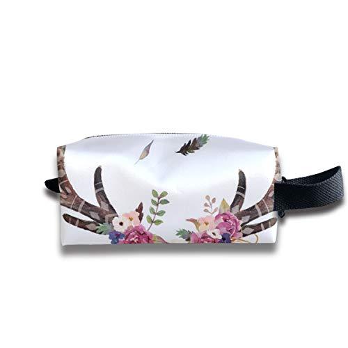 Boho Aztec Beauty Floral Free_7700 Tragbare Reise Make-up Kosmetiktaschen Organizer Multifunktions-Tasche Taschen für Unisex (Aztec Figuren)