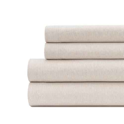 Briarwood Home Super weiches Flanell-Bettwäsche-Set aus türkischer Baumwolle, 150 g/m², sehr warm, Tiefe Tasche, atmungsaktives gebürstetes Flanell, 4-teiliges Set Queen beige (Flanell Sheet Set Queen)