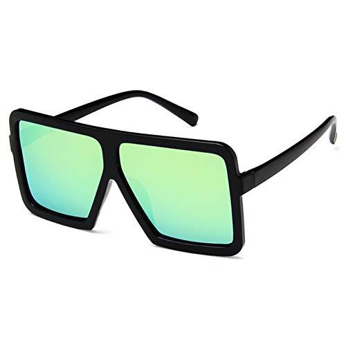 Wenkang Quadratische Sonnenbrille Designer Spiegel Foto Chrom Übergroße Sonnenbrille Männliche Sonnenbrille,C7