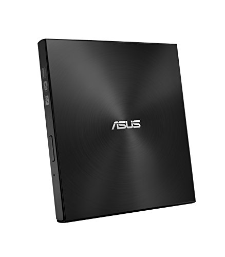 Asus ZenDrive U7M externer DVD-Brenner (für Apple MacBook &  Windows PCs/Notebooks, inkl. 2x M-Disk Rohlingen, Brennsoftware & Nero Backup App, M-Disc Support, USB 2.0) schwarz