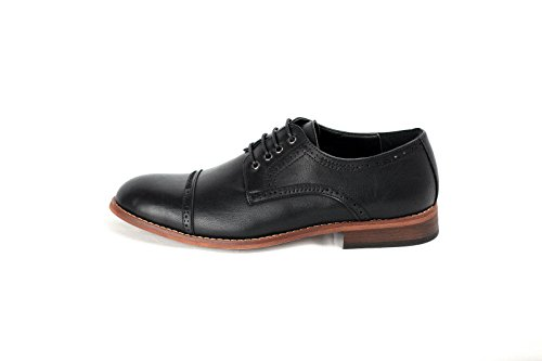 JAS Hommes Décontractéélégant Oxford Chaussures Noir
