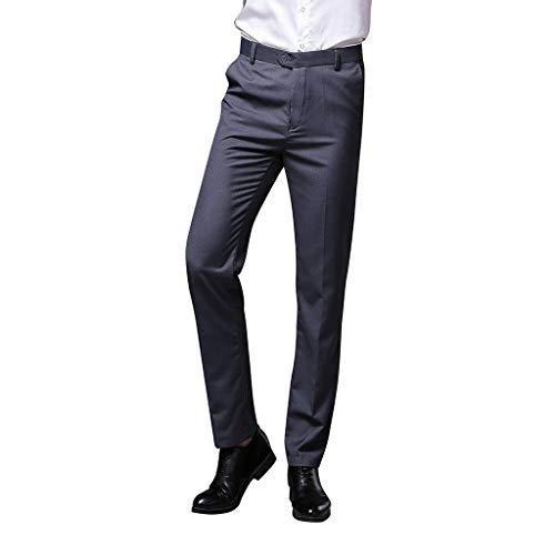 SHE.White Men Anzughose Hose Lockere Weich Arbeitshose Lange Hose Herrenhose Einfarbig Pants Bequeme Stoffhose Freizeithose -