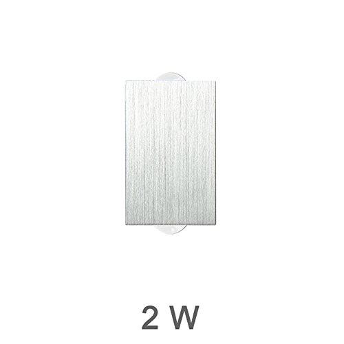 Innen 2W 4W 6W 8W führte Wand-Lampen Ac100V / 220V Aluminium verzieren Wand-Leuchter-Schlafzimmer geführtes Wand-Licht, warmes Weiß, 2W