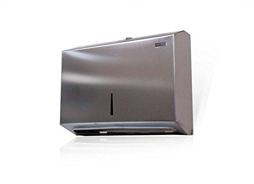 Aviva Clean Edelstahl Papierhandtuchspender Handtuchspender 200 Blatt rostfrei Ideal für Krankenhäuse Praxen Hygiene