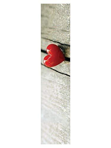 Empreinte Deco Tapis Gris/Rouge 100 x 50 cm