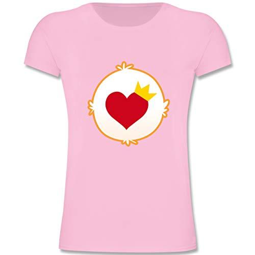Karneval & Fasching Kinder - Cartoon-Bärchis Krone - 164 (14-15 Jahre) - Rosa - F131K - Mädchen Kinder T-Shirt (Kostüm Ideen Herzen Die Der Für Königin)