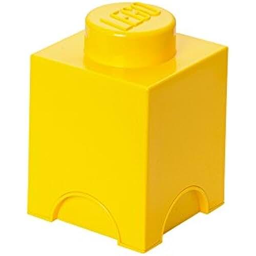 dia del orgullo friki Lego 40011732 - Caja en forma de bloque de lego 1, color amarillo [importado de Alemania]