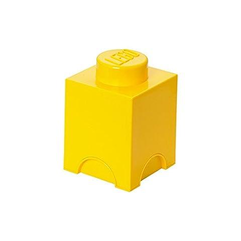 Room Copenhagen RC40011732 Lego Boîte de Rangement Brique Plastique Jaune 45 x 35 x 25 cm