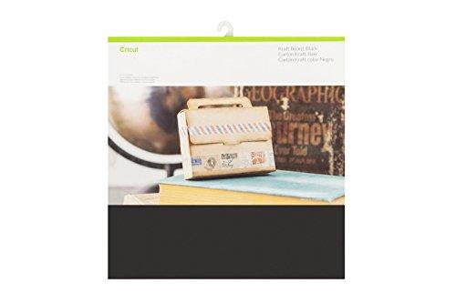 Unbekannt Cricut Paper & Cardstock Muster, 30,5 x 30,5 cm, schimmerndes Papier - klassisch, Schwarz, 12
