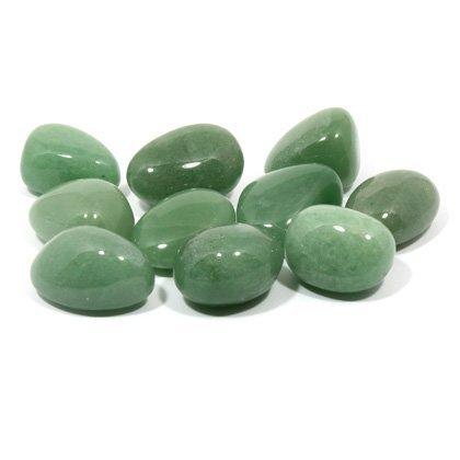 Green Aventurine Tumble Stone (20-25mm) 10 Pack