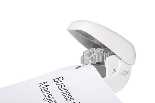 Wedo 1272000 Klammerloser Hefter Mini (bis zu 5 Blatt Papier - ohne Heftklammern) weiß - 4