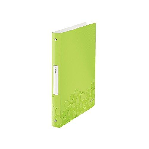 Leitz 42580064 Ringbuch WOW, A4, PP, 4 Ringe, 25 mm, grün metallic
