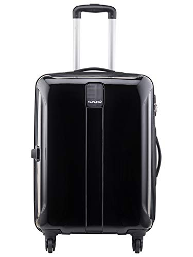 Safari Polycarbonate 77 cms Black Hardsided Check-in Luggage (THORSHARPANTI774WBLK)