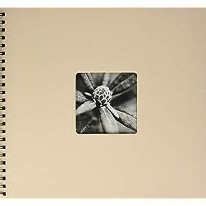 Hama Fotoalbum 24×17 cm (Spiral-Album mit 50 schwarzen Seiten, Fotobuch mit Pergamin-Trennblättern, Album zum Einkleben…