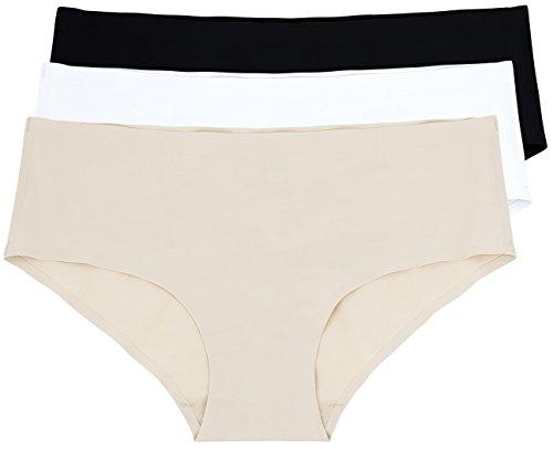 Nahtlose Mikrofaser Bikini (3er Pack Damen Hüftslip, nahtlos aus Mikrofaser